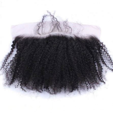 1 pc Brazilian Human Virgin Hair Afro Kinky Curly Lace Frontal (13*4) LLB09