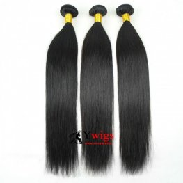 8A Grade 3 Bundles Brazilian Straight Human Virgin Hair with 1 Piece Silk Closure(4*4) SPSB01