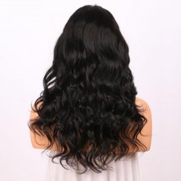 Glueless Preplucked Body Wave 360 Lace Frontal Wigs Peruvian Human Hair AOP04