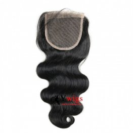 1 pc Peruvian Human Virgin Hair Body Wave Lace Closure (4*4) LSP04