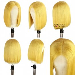 Yellow Brazilian Bob Lace Front Wig AFB19