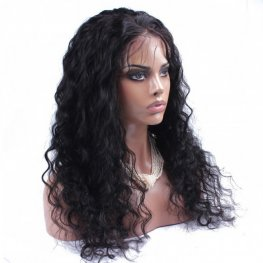 Preplucked Loose Wave Peruvian Human Hair Full Lace Wigs AAP106