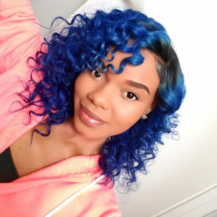 Blue Brazilian 13 x 4 Lace Front Wig AFB29
