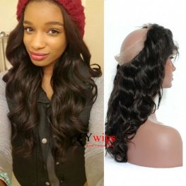 1 pc 360 Lace Frontal Closure Brazilian Virgin Hair Body Wave Lace Frontal LOB04