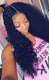 Glueless Preplucked Water Wave Full Lace Wig Brazilian Human Hair AAB8