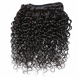 7A Grade 3 Bundles Peruvian Water Wave Human Virgin Hair with 1 Piece Lace Closure(4*4) PSP08