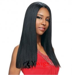 Glueless Preplucked Light Yaki Peruvian Hair Lace Front Human Hair Wig AFP016