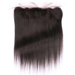 1 pc Brazilian Human Virgin Hair Yaki Straight Lace Frontal (13*4) LLB16
