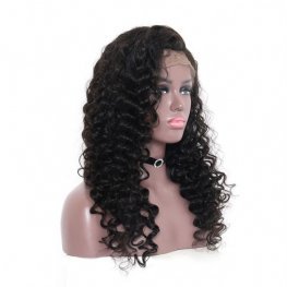 Pre-Plucked Brazilian Loose Deep Wave 360 Lace Frontal Wigs AOB35