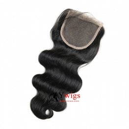 7A Grade 3 Bundles Peruvian Body Wave Human Virgin Hair with 1 Piece Lace Closure(4*4) PSP04