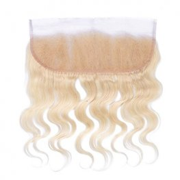 1pc Blond Peruvian Human Hair Body Wave Lace Frontal (13*4) LLP04-#613