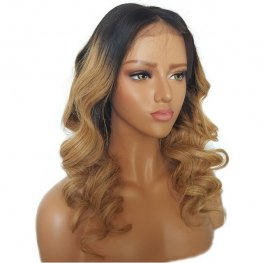 Glueless Preplucked #27 Blonde Body Wave 360 Lace Frontal Wigs Brazilian Human Hair AOB47