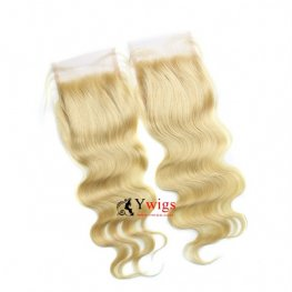 1 pc #613 Blond Body Wave Peruvian Human Hair Lace Closure (4*4) LSP04-#613