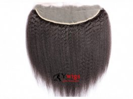 1pc Peruvian Human Virgin Hair Kinky Straight Lace Frontal (13*4) LLP02