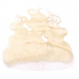 1 pc Blonde Brazilian Human Hair Body Wave Lace Frontal (13*4) LLB04-#613