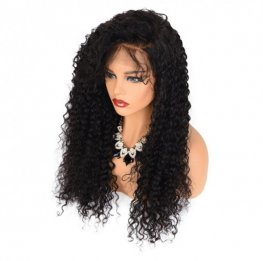 Glueless Preplucked Deep Curly Brazilian 13x6 Lace Front Wigs AFB56