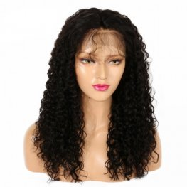 Glueless Preplucked Deep Curly 360 Lace Frontal Wigs Brazilian Human Hair AOB101