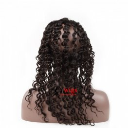 1 pc 360 Lace Frontal Closure Brazilian Virgin Hair Deep Curly Lace Frontal LOB10
