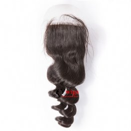 1 pc Brazilian Human Virgin Hair Loose Wave Lace Closure (4*4) LSB061