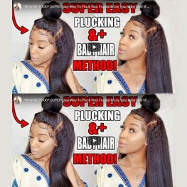 Glueless Preplucked Kinky Straight 360 Lace Frontal Wigs Brazilian Human Hair AOB02