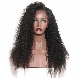 Jerry Curly 360 Lace Frontal Wigs Brazilian Human Hair AOB10