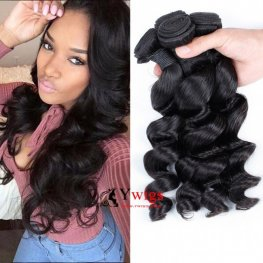 3 Bundles 7A Grade Peruvian Human Virgin Hair Loose Wave Weave WP063