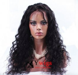 Preplucked Loose Wave Peruvian Hair Human Hair Full Lace Wig AAP06