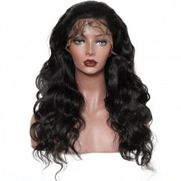 Preplucked 250% Density Body Wave Lace Front Wig Brazilian Human Hair AFB18