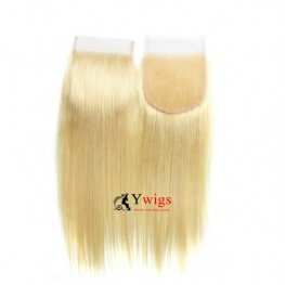 Blond 1 pc Brazilian Human Hair Straight Hair Lace Closure (4*4) LSB01-#613