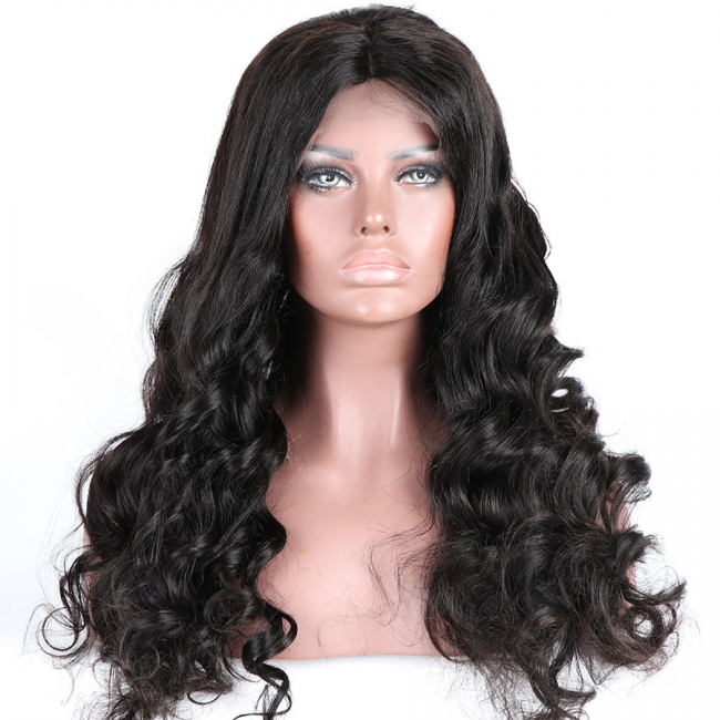 Glueless Preplucked Loose Wave Brazilian Hair Human Hair Lace Front Wigs AFB05