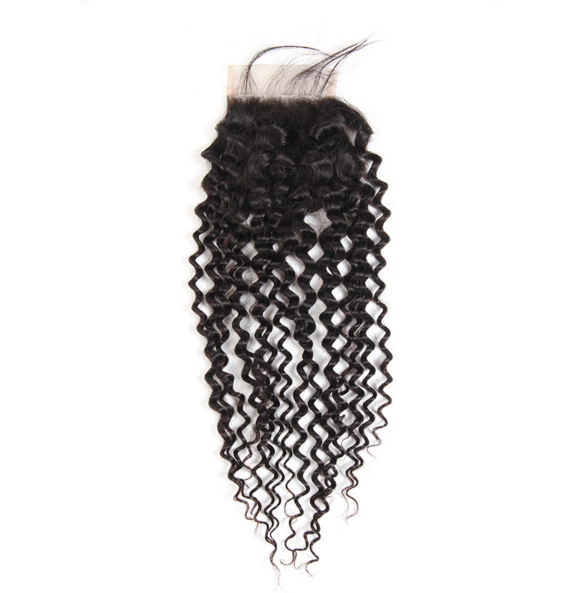 1 pc Peruvian Human Virgin Hair Jerry Curly Lace Closure (4*4) LSP12
