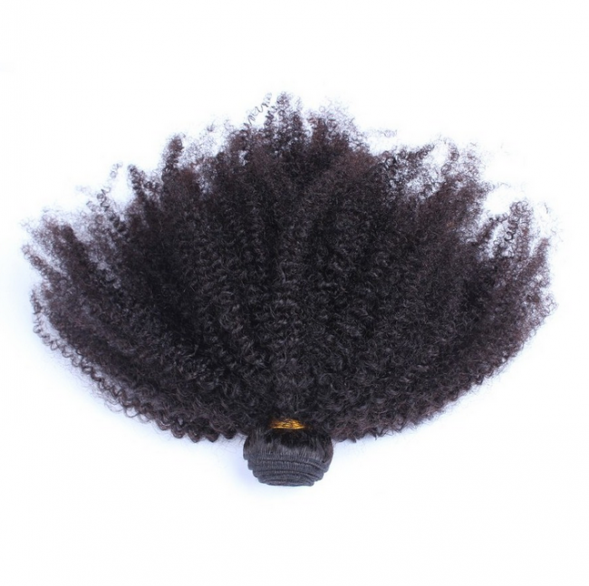 1 Bundle 7A Grade Peruvian Human Hair Afro Kinky Curly Weave WP091